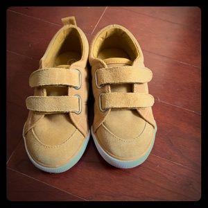Mustard Yellow Boys Velcro Sneaker
